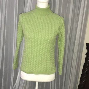 Green Women's Turtleneck